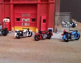 Police Harley Davidson HO 3D print model