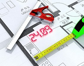 Animated Tape Measure 3D