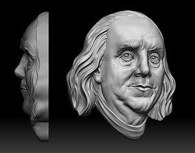 Benjamin Franklin One hundred US dollars 3D print