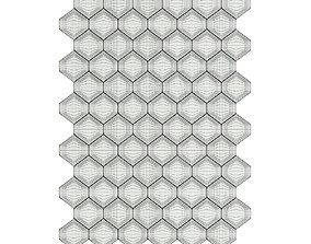 3D White Hexagonal Wall Panel