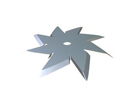 Shuriken 3D printable model bladed-weapon
