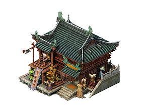 Game model - City armor shop equipment shop