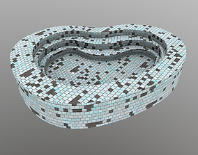 Swimming Pool 3D asset game-ready PBR