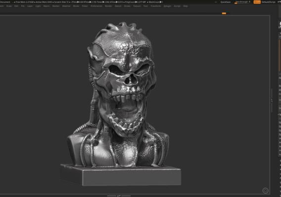 Angry Scream Skull 3d print model