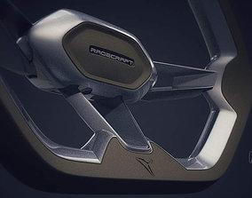 3D model game-ready Ragecraft steering wheel