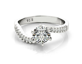ring cad round solitaire engagement ring 3dm file for 1