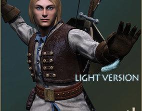 3D asset Adam Adventurer Light Version