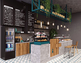Coffee bar 3D coffe