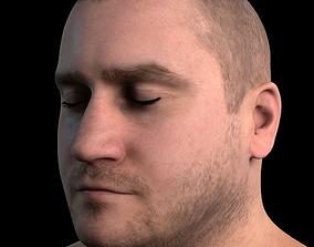 3D model rigged Serge body