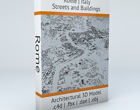 3D model Rome Streets and Buildings
