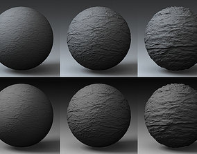3D model Displacement Landscape Shader 015