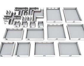Large Modular Hospital Pack 3D model
