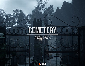 3D model Cemetery Pack - S2 Engine and FBX
