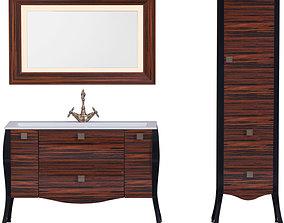 3D model Furniture set Madonna 120 Eben Pencil case 40