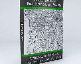 Beirut Road Network and Streets 3D