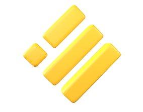 Binance USD Coin v1 001 3D asset