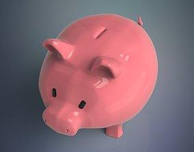 finance 3D model Piggy bank