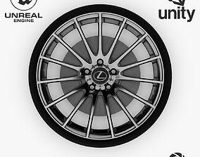 3D model Wheel Steel-Chrome Alloy Rim Lexus 19 4