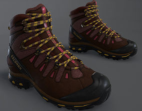 3D model VR / AR ready Hiking Boot High Quality