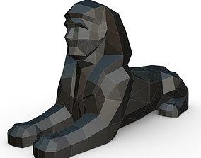 3D print model sphinx low poly