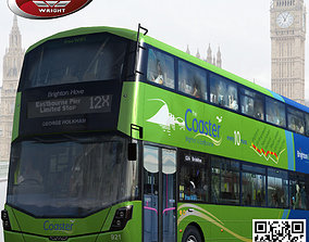 Wrightbus Streetdeck Coaster Green livery 3D model
