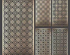 3D model Decorative panel set 65