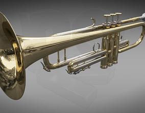 3D musician Trumpet-Cornet B flat