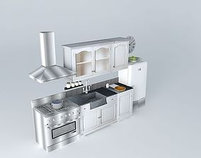 Kitchen St Remy Maisons du monde 3D