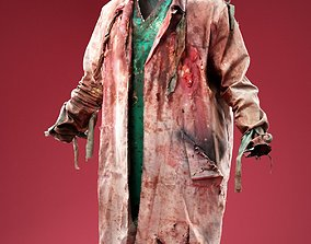 Horror Docter in Bloody Ripped Coat 3D model