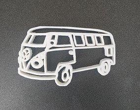 3D print model Van Volskswagen keychain