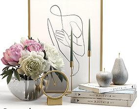 Decorative set 3D decorative