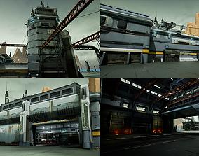 planet Modular Sci-Fi Hangars Location 3D model