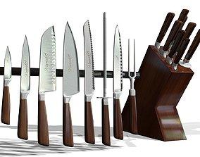Knife set 3D model PBR