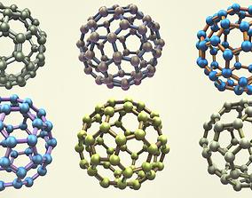 Carbon Structure Fullerene Pack 3D