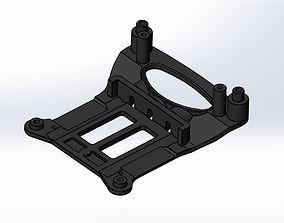 Tamiya TT-01 E Chassis Skid Plate Bumper Mount 3D Print