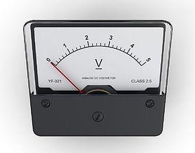 DC Voltmeter 3D model