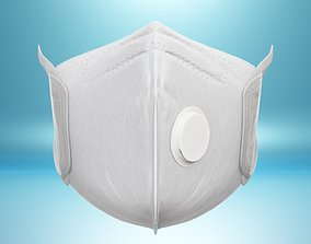 Medical-Surgical Mask Anti Coronavirus Mouth 3D asset 2