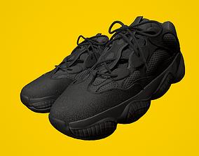 3D model YEEZY 500 - Utility Black - Kanye West -