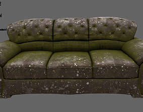 3D model low-poly Armchair armchair