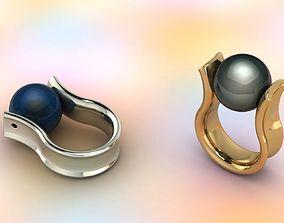 Ring sphere 3D print model rings