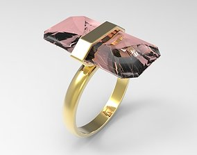 gem design ring 3D printable model