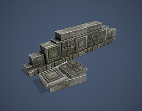 Ruins 3D model game-ready
