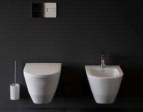 laufen pro bide and toilet 3D model