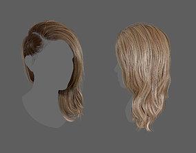 3D model Side Plait Realtime Hair