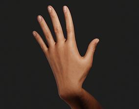 3D model Female Left Hand Rigged