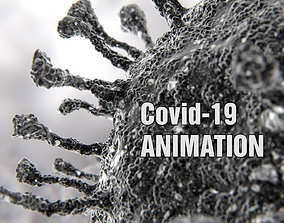 3D Corona Virus COVID-19 PBR Animation