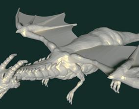 myth 3D model dragon sculpt
