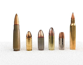 3D model Bullet Collection low-poly
