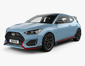 3D Hyundai Veloster N with HQ interior 2018