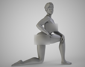 Woman on One Knee 3D print model